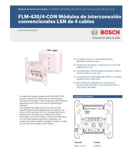 Módulos de interconexión convencionales LSN de 4 cables - FLM-420/4-CON-D