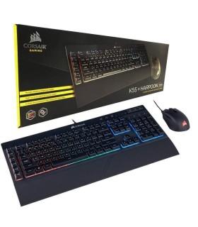Combo Gamer Corsair Teclado K55 RGB Y Mouse HARPOON RGB - CH-9206115-SP