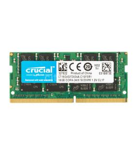 Memoria Crucial De 16GB DDR4-2400 SODIMM - CT16G4SFD824A