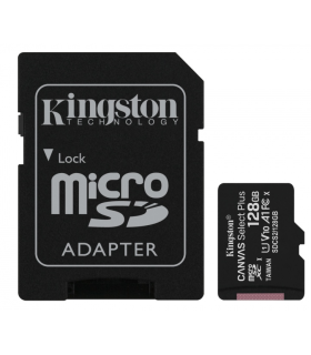 Memoria Flash Kingston Canvas Select Plus 128GB MicroSDHC UHS-I Clase 10 - SDCS2/128GB
