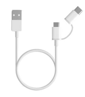Cable USB Blanco Para Xiaomi 2 en 1 X-Kim - SJV4082TY