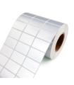 Rollo De Etiquetas SAT C1 R5000 2 Columnas/Blanco/Plata - 51MMX25MM