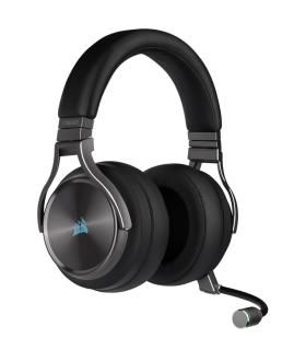 Audífonos Gamer Inalámbricos Corsair Virtuoso RGB /Plomo - CA-9011180-NA