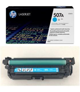 Cartucho original de tóner cian HP 507A LaserJet - CE401A