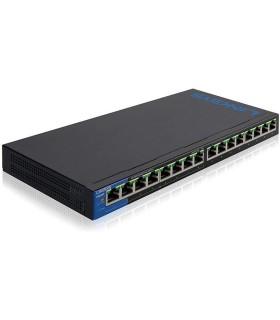 Switch Gigabit PoE+ de 16 puertos Linksys - LGS116P