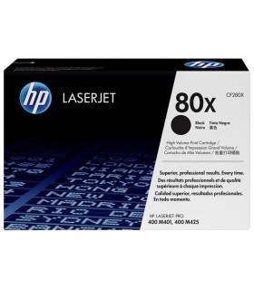 Tóner negro de alto rendimiento HP 80X LaserJet - CF280X