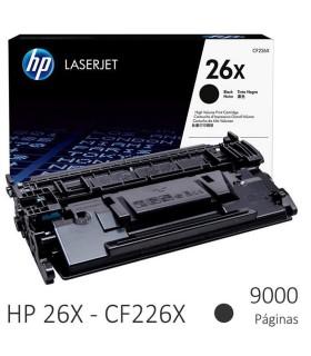 Tóner original LaserJet HP 26X negro de alta capacidad - CF226X