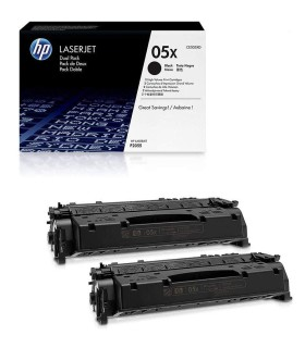 Tóner HP 05X de alta capacidad negro - 2 Unidades - CE505XD