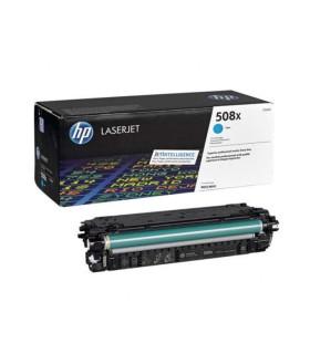 Tóner original LaserJet HP 508X cian de alta capacidad - CF361X