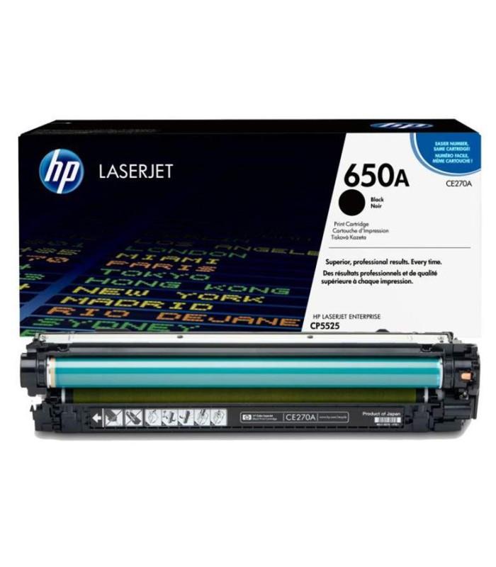 Tóner negro HP 650A LaserJet - CE270A