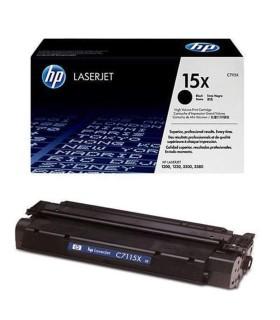 Tóner negro de alto rendimiento HP 15X LaserJet - C7115X