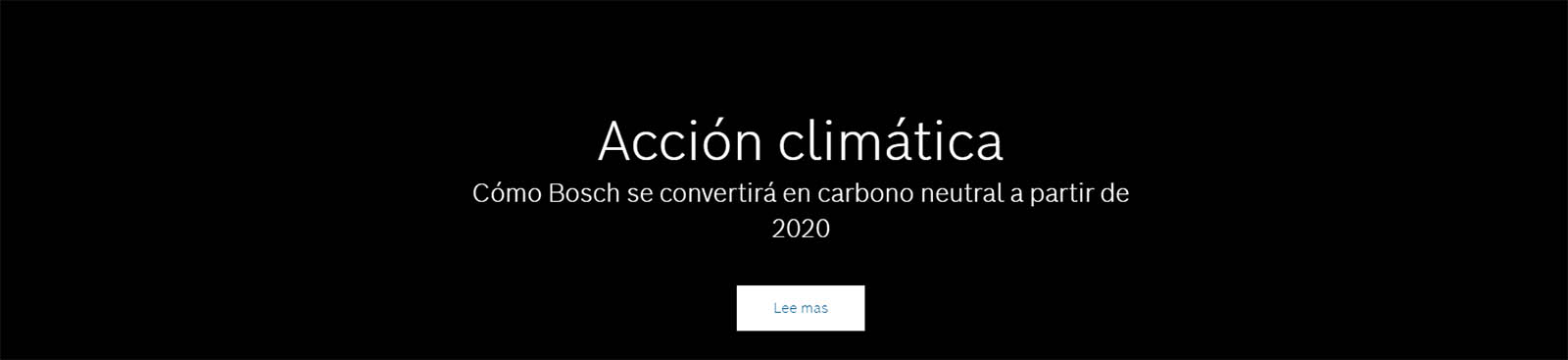 Cómo Bosch se convertirá en carbono neutral a partir de 2020